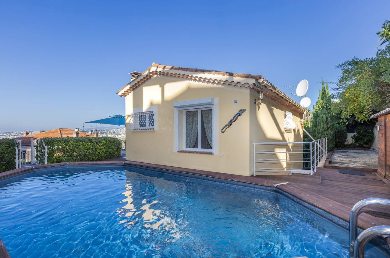 House With Pool And Garage Nice Mont Alban