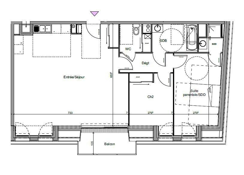 Rouen 76000, Appartement 3/4 pièces. Prestations haut de gamme.