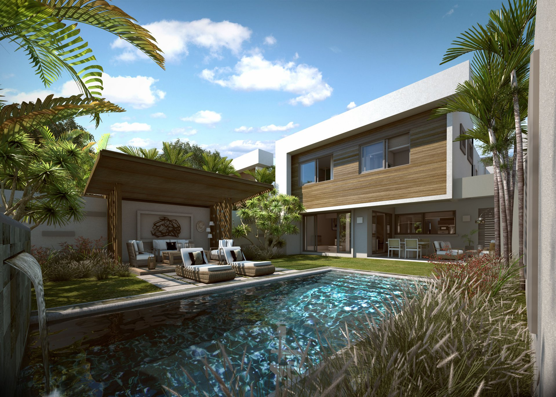 Residences surrounding 90 hectares of parkland with access to beach