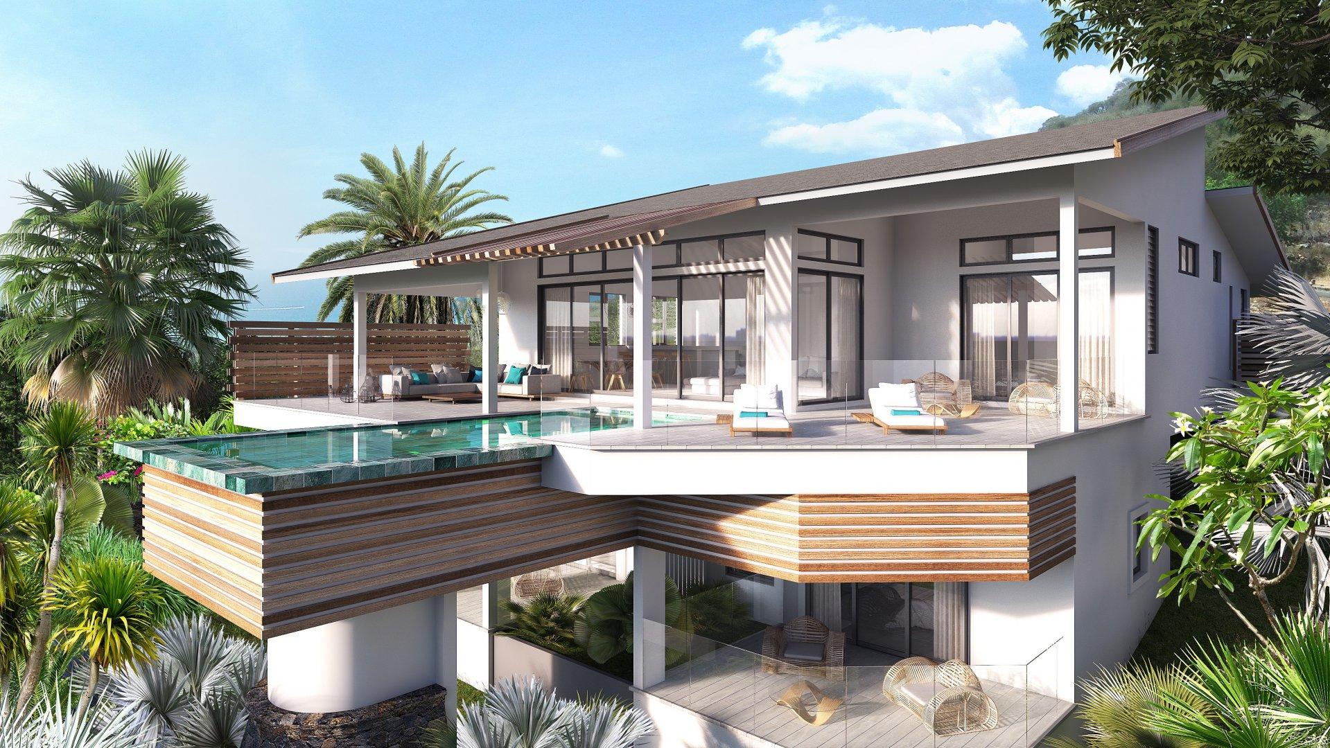 Villas de luxe offrant des vues magiques