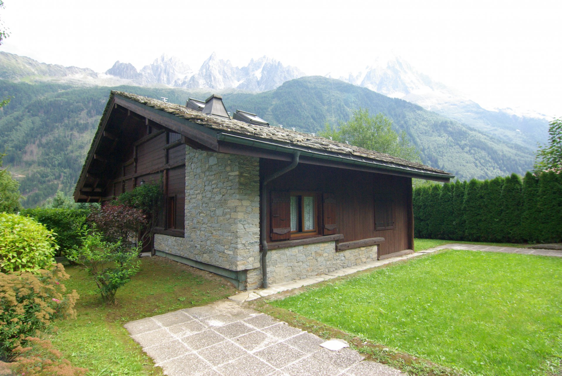 Exterior view of the house facing Mont Blanc