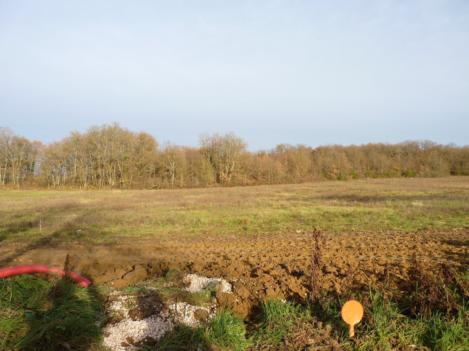Aurignac, building plot of 1514 m² countryside view