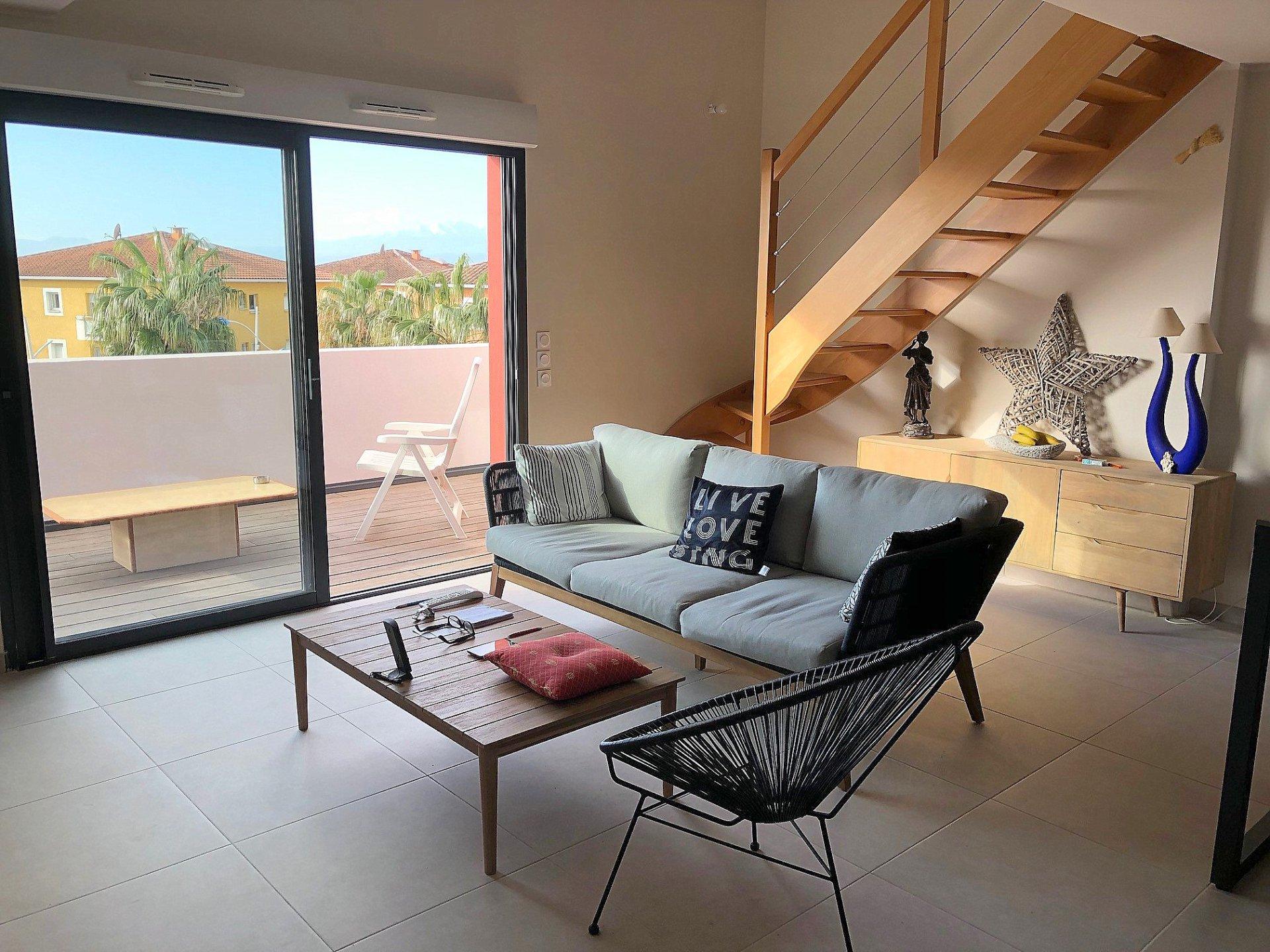 Canet-en-Roussillon, Superbe T3 de standing avec solarium