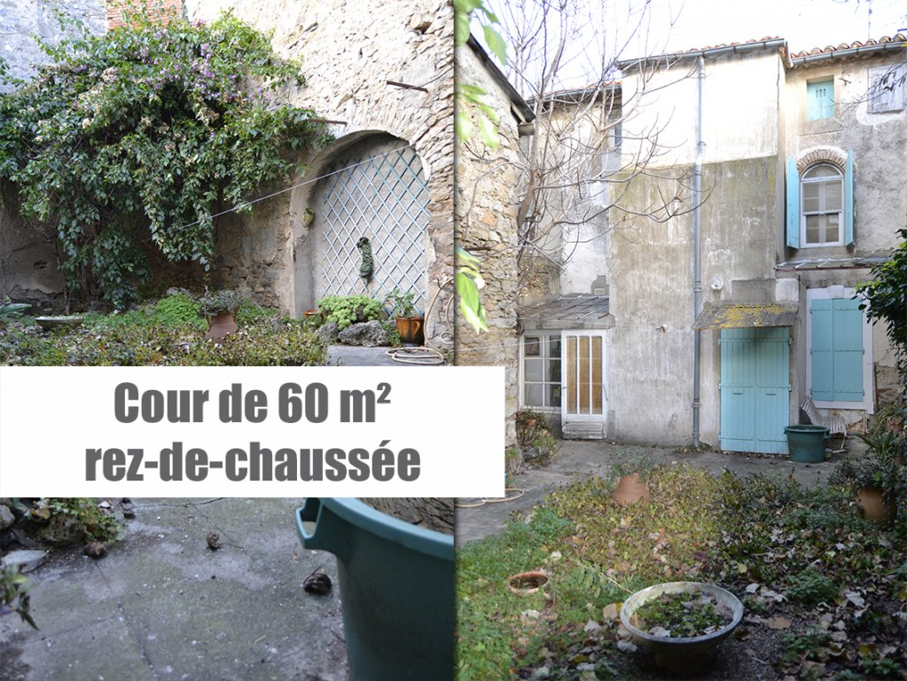 Maison de village 160 m² + garage, cour et terrasse