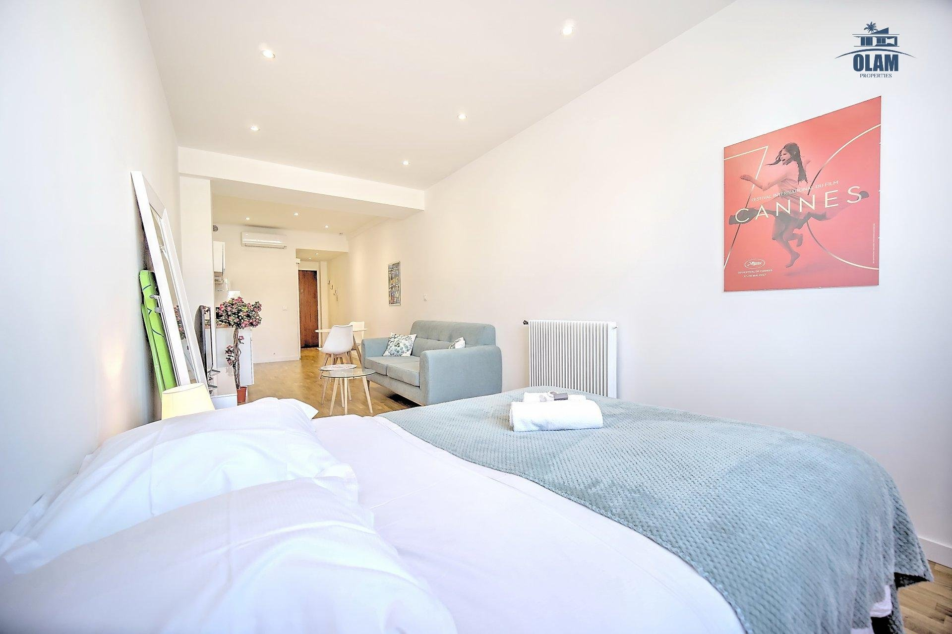 SEASONAL RENTING CENTER OF CANNES STUDIO APPARTMENT
