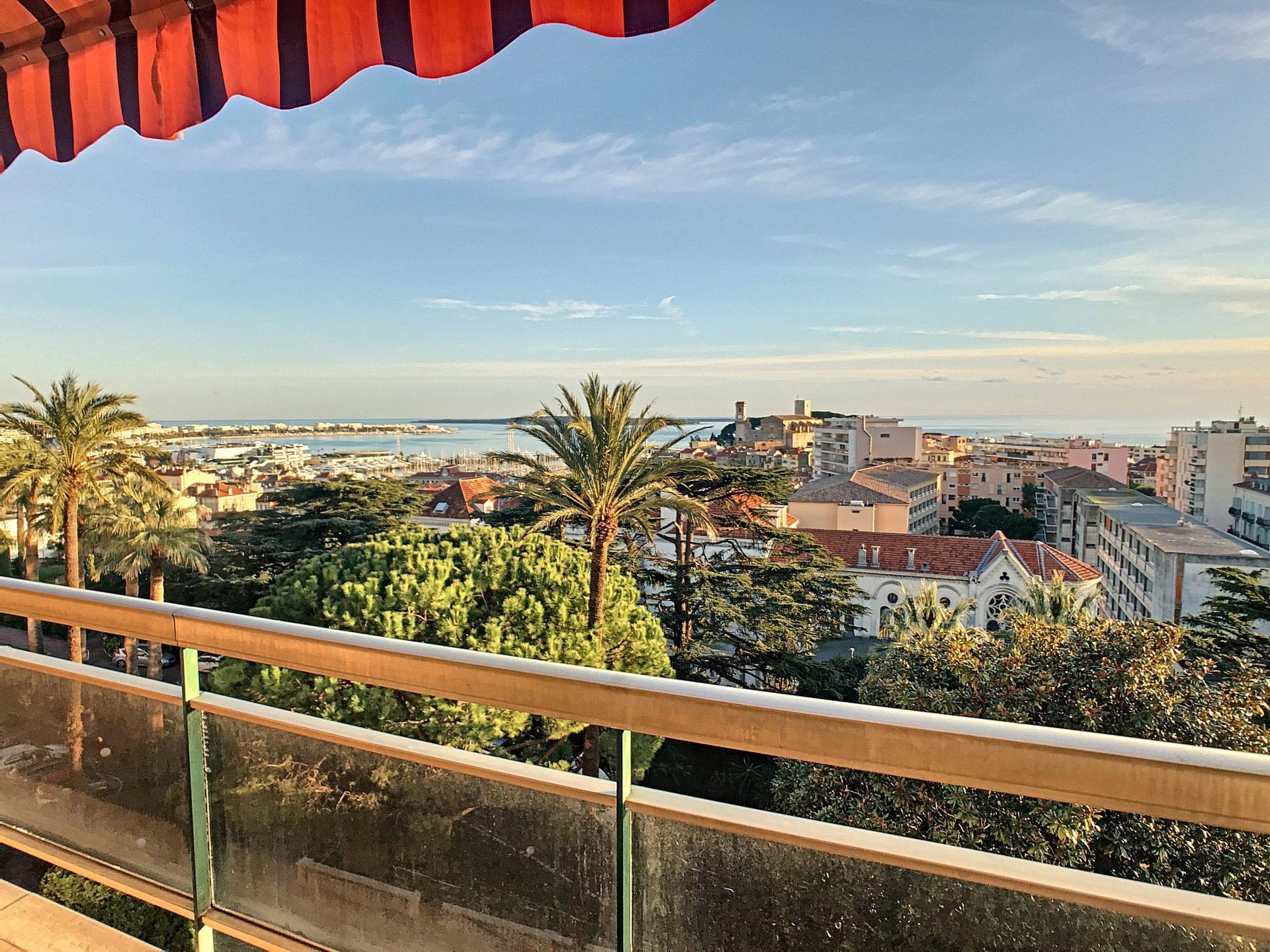 Cannes Stanislas, 4 pièces vue mer panoramique et suquet