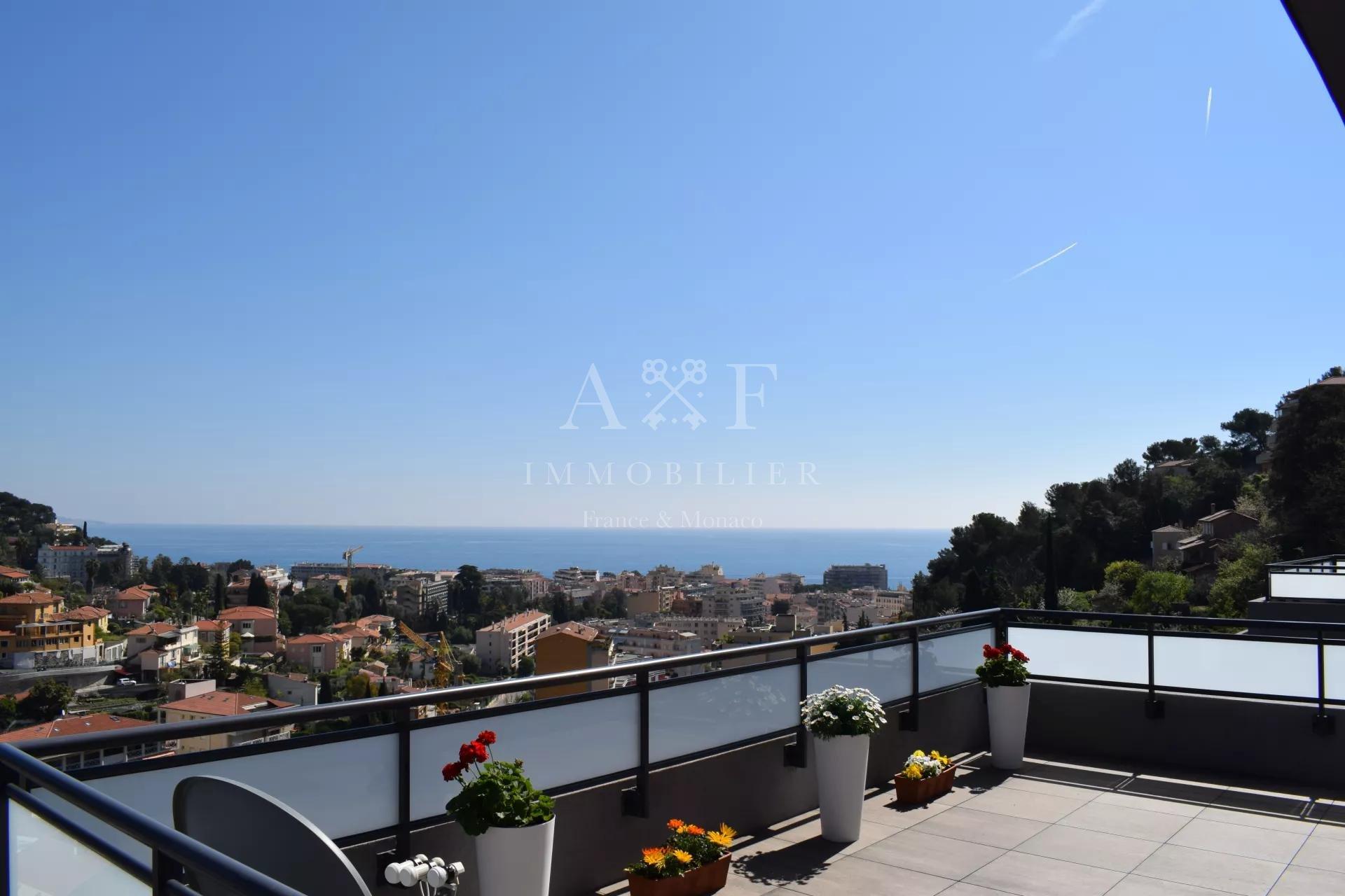 Overlooking the valley of Roquebrune Cap Martin