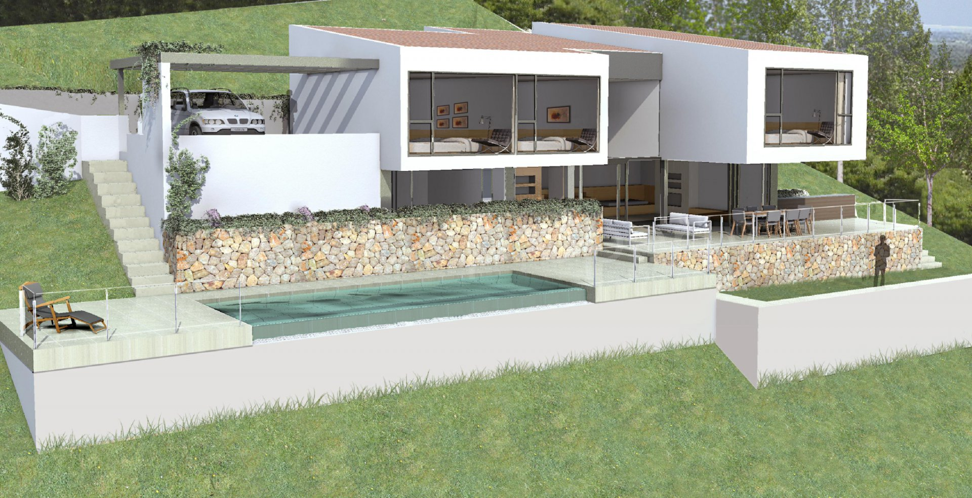 Beautiful and modern villa under construction