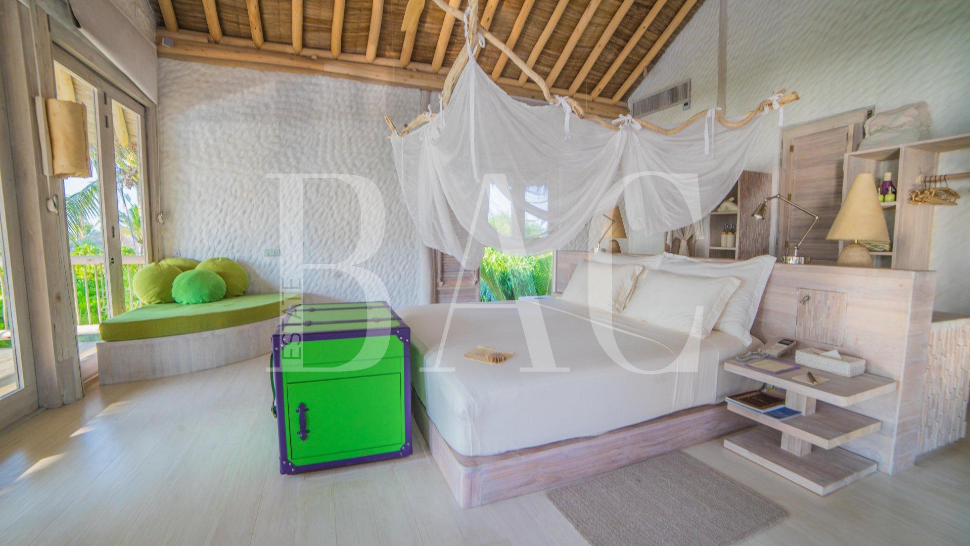 Villa on an island in the Maldives