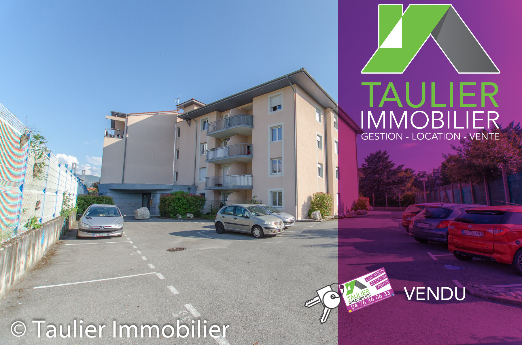 T2 avec ascenseur, terrasse, parking