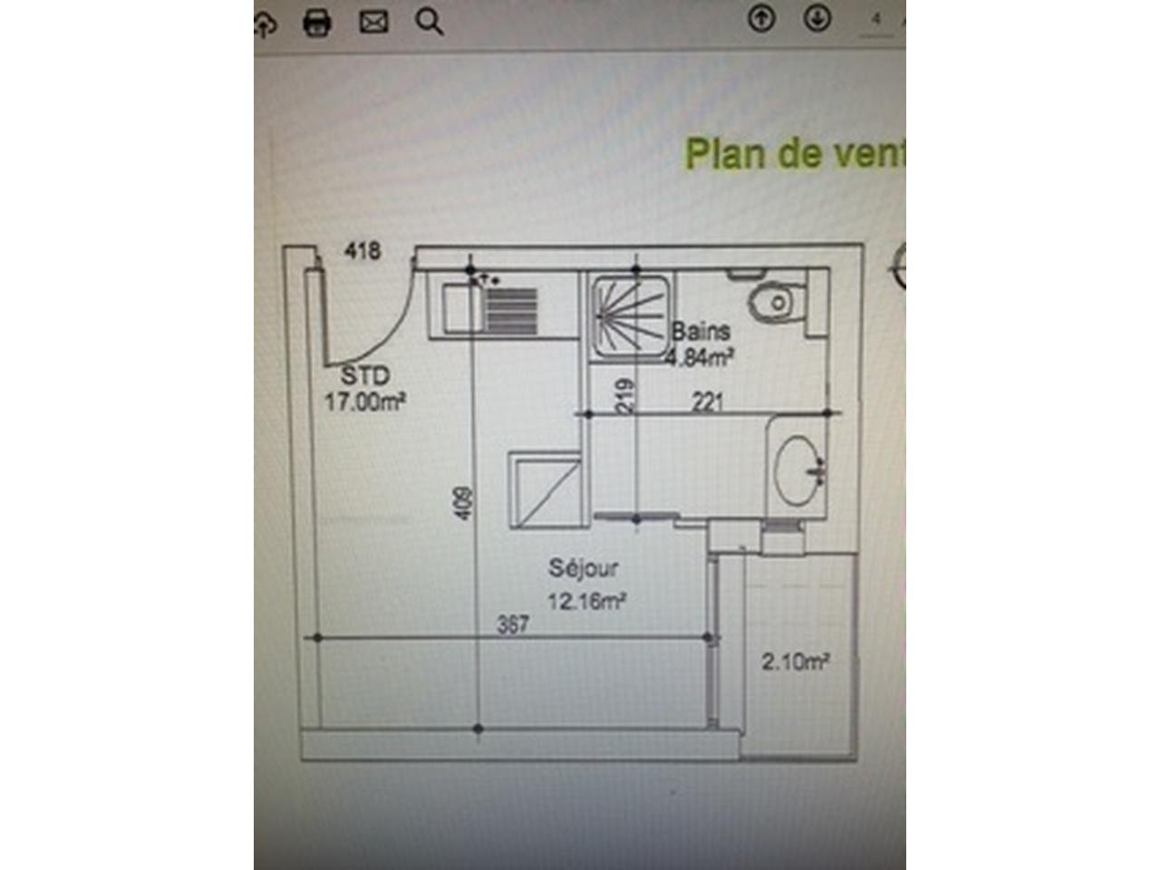 St jean d'angely : résidence 2013  , studio  17 m²   , balcon , idéal investisseur