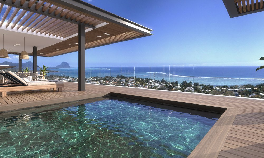 Penthouse on the 2nd floor of a residence in Tamarin, Mauritius