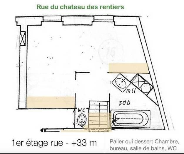 Paris - XIII ème - SQUARE FLORENCE BLUMENTHAL - M° Olympiades - 3 Pièces - 1/2 Chambres - REZ DE JARDIN - TERRASSE - DUPLEX - SOLEIL - CALME - CADRE VERDOYANT