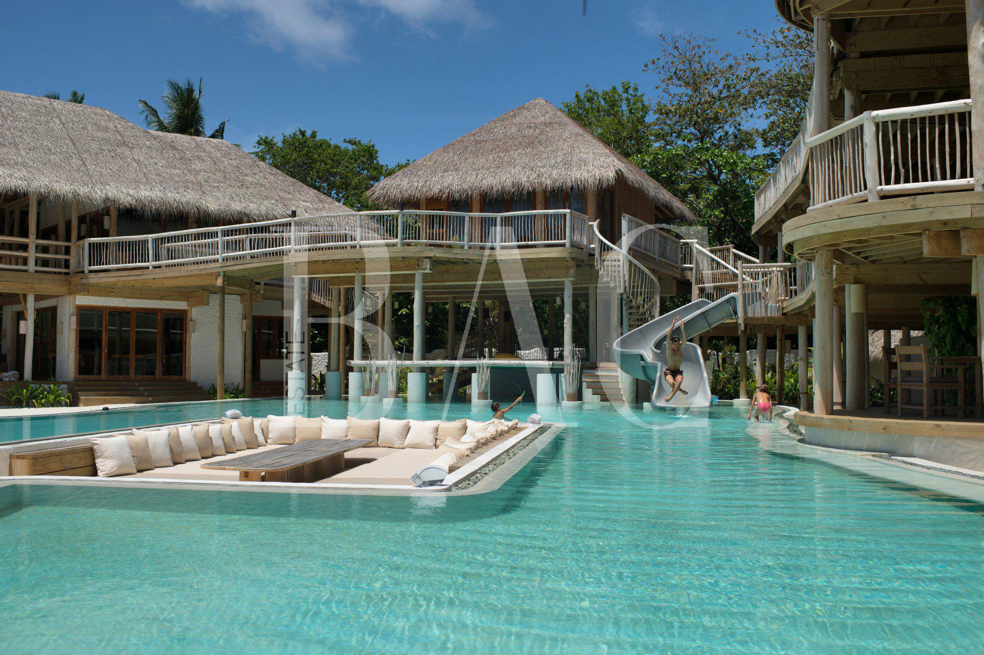 9 bedroom villa on an island in the Maldives
