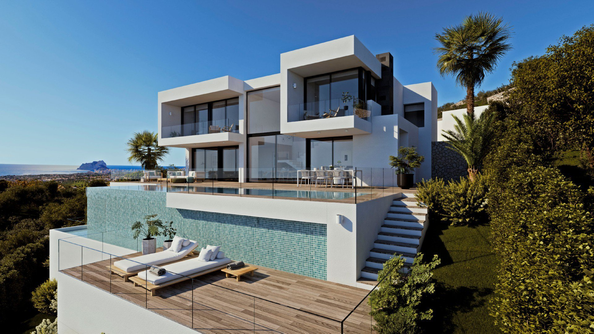 Exclusive and modern villa with panoramic sea views