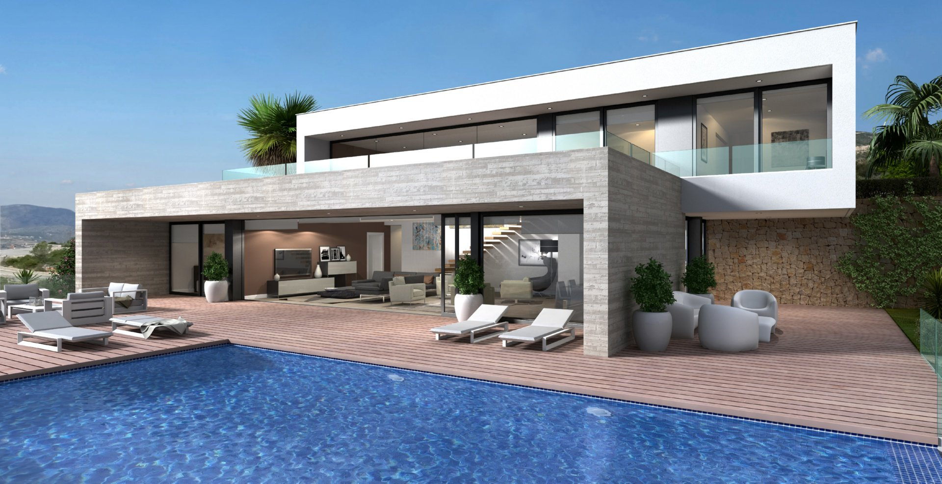 New modern build villa on privileged location on the cumbre del sol