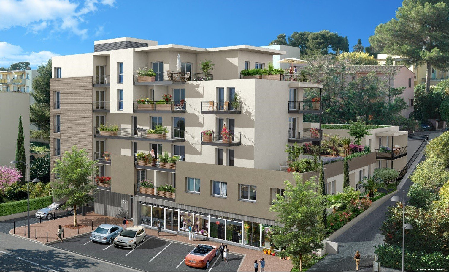 New apartments in Le Cannet, near the centre of Cannes
