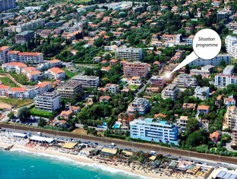 Nouveaux appartements contemporains à 100 m de la mer à Juan-les-Pins