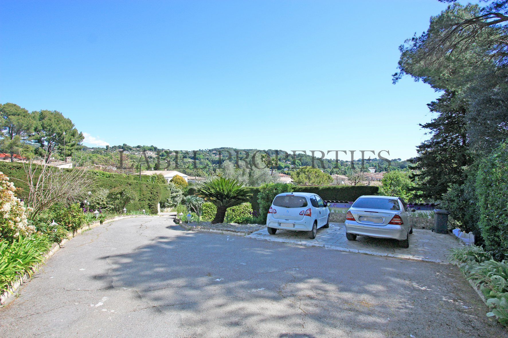 Downtown Mougins with an open view