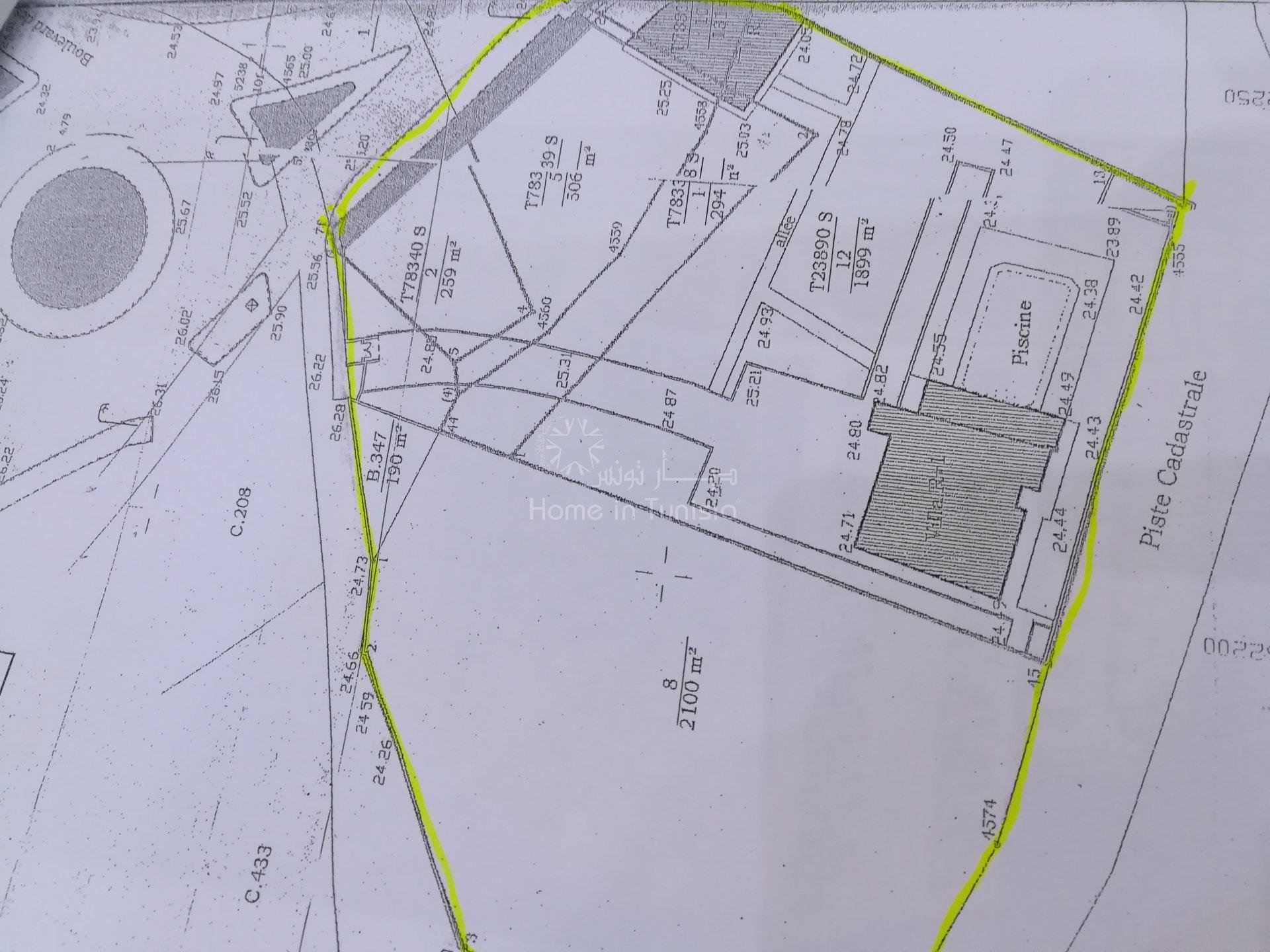 a vendre el kantaoui terrain constructible