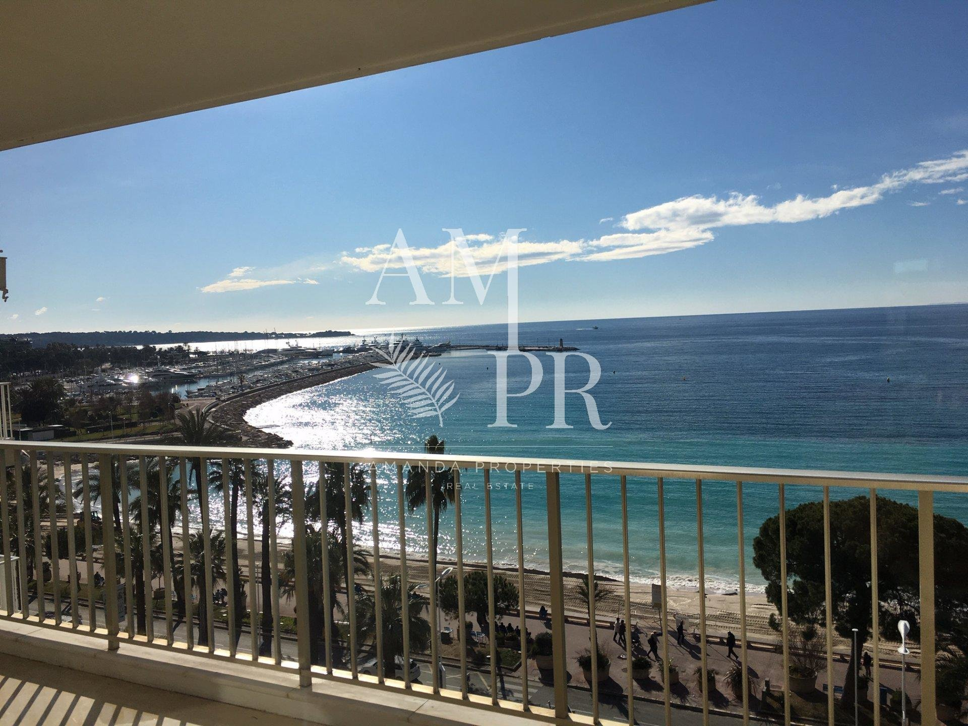 3 room apartment - Cannes Croisette - Panoramic sea view