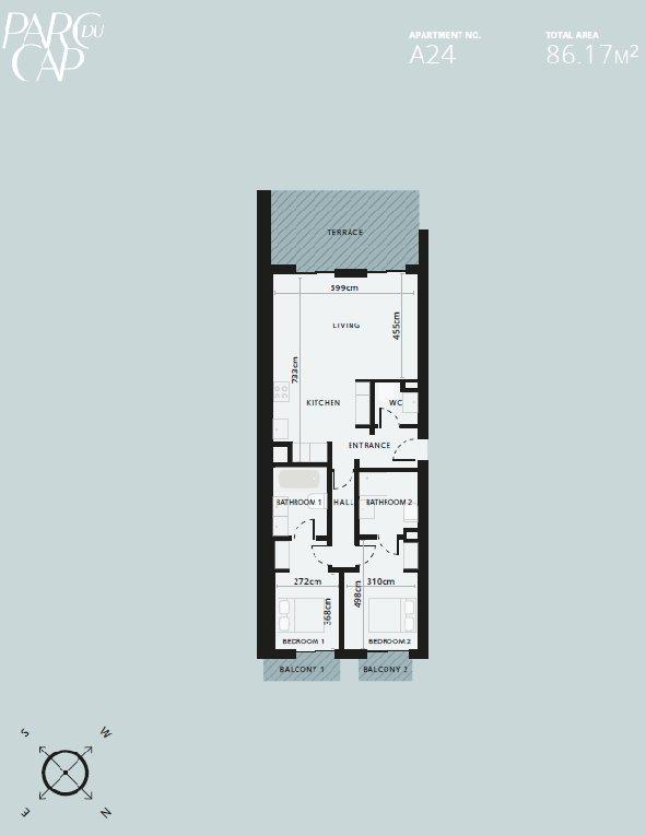 Cap d'Antibes - Rålekker 3-roms nøkkelklar leilighet i eksepsjonell ny residens