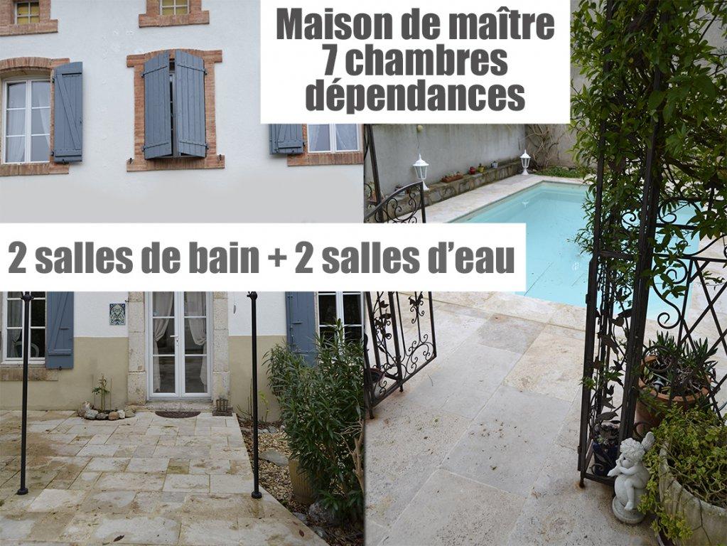Maison de maître T8, piscine, dépendances