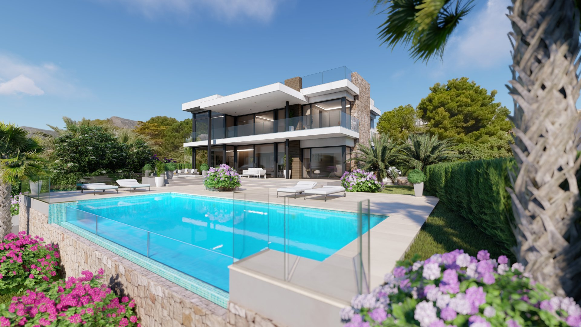 A new luxury house in Calpe close to sea and amenities