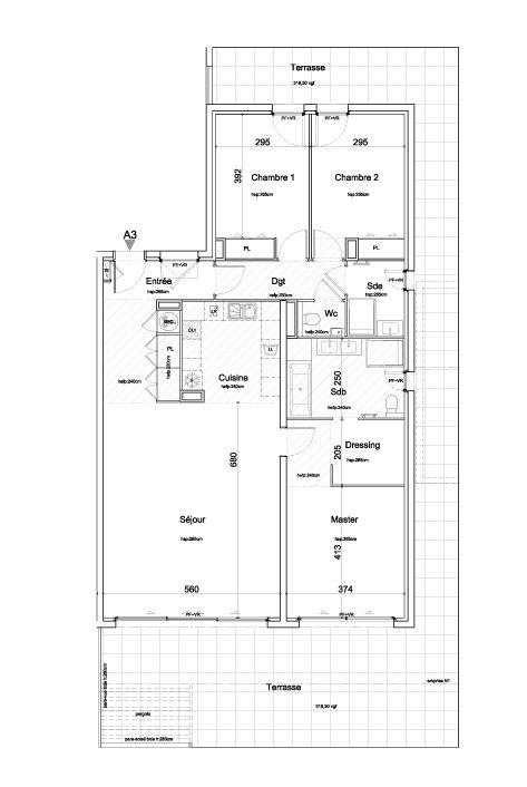 Nice Gairaut appartement villa neuf 4p plan