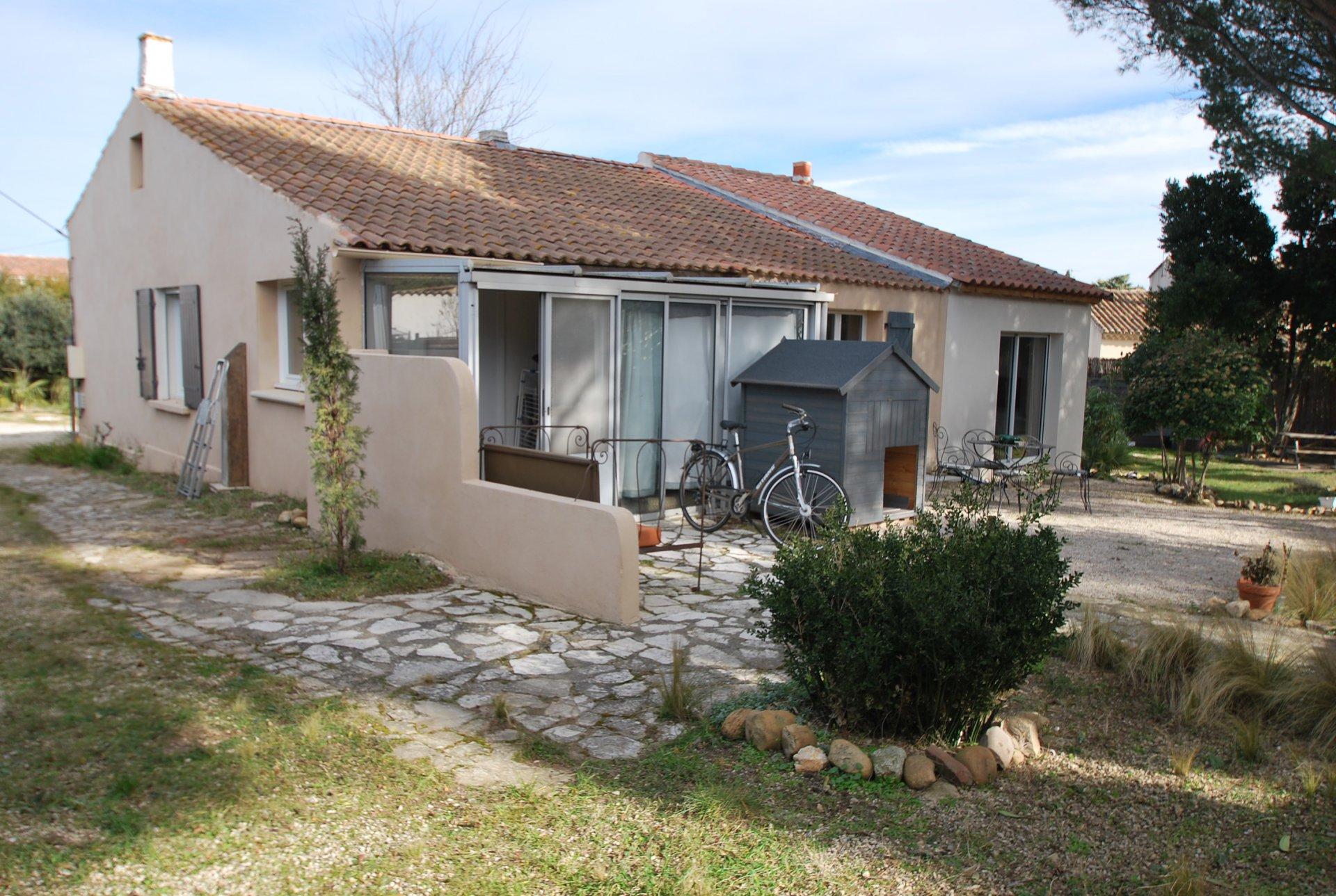 Maison de plain pied avec appartement indépendant sur Fontvieille