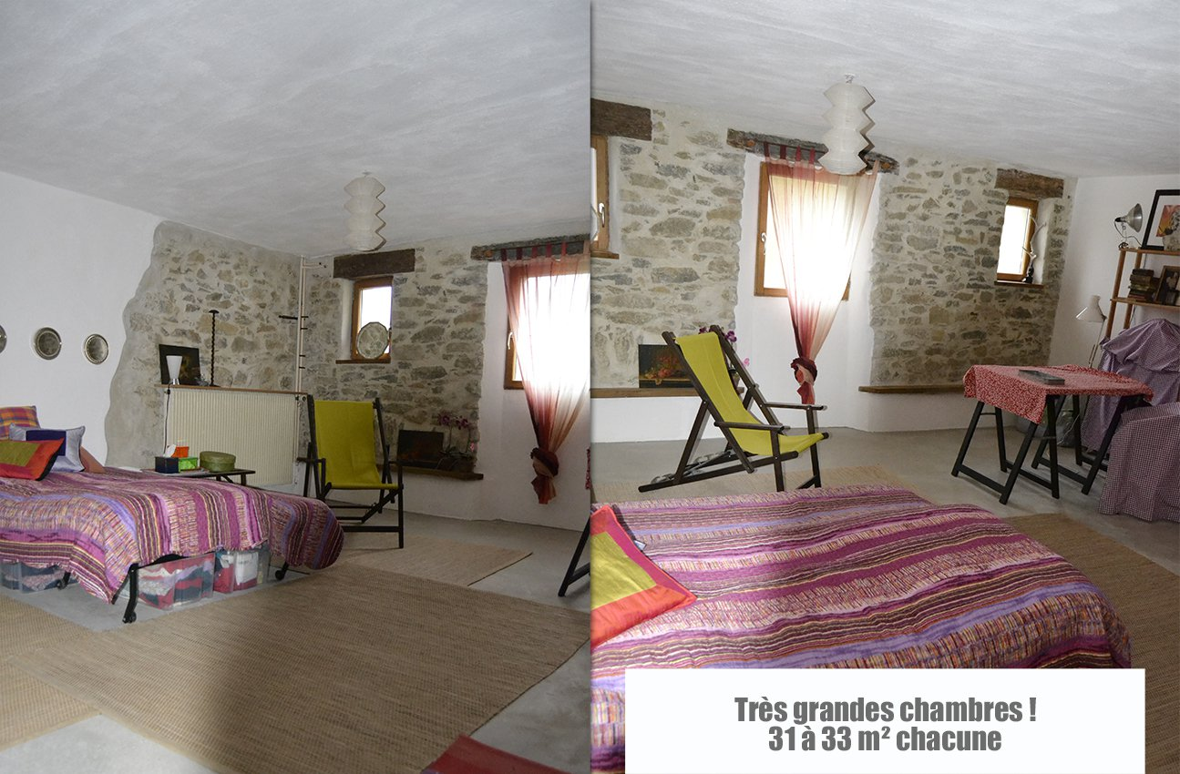 Stone house with 3300 m² of land - quiet place !