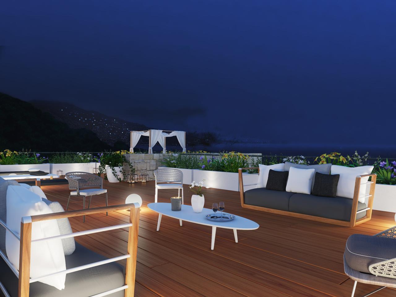 Modern villa med pool och med fantastisk utsikt över Mediterraneen.