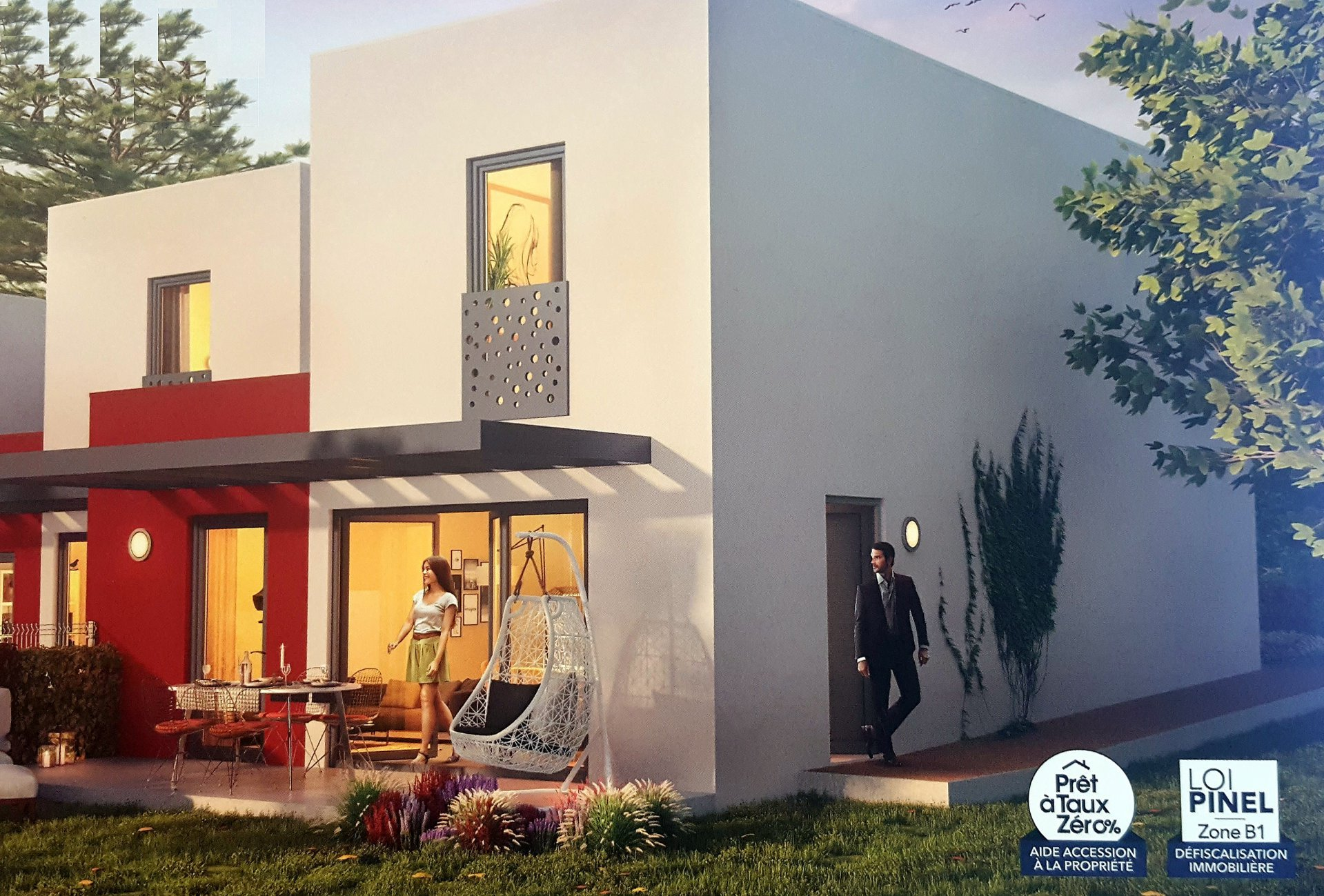 Perpignan, villa neuve T4 avec garage et jardin à la vente