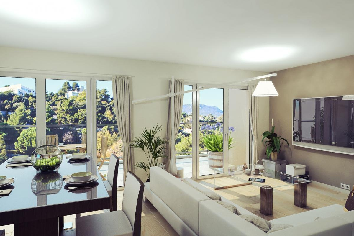 New apartments in a lush and calm environment in Menton