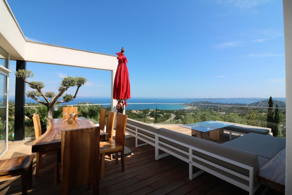 For sale in Sainte Maxime superb modern property of 2 villas with amazing sea view, each villa has its ...