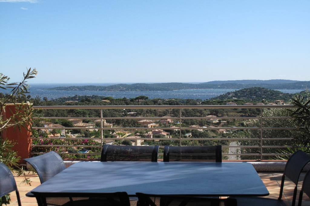 For sale villa on the golf course in Sainte Maxime with superb sea view towards St Tropez on one side ...