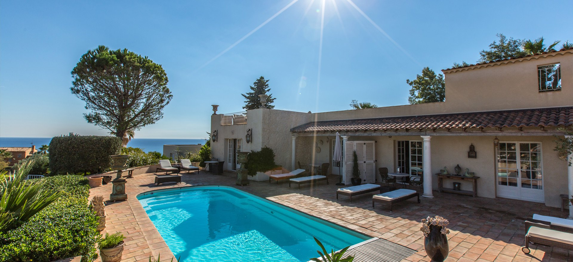 Property for sale  in Les Issambres, superb sea view, main house with 5 apartments