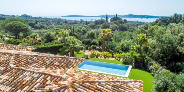 For sale,  villa Grimaud Beauvallon beautiful view of St Tropez