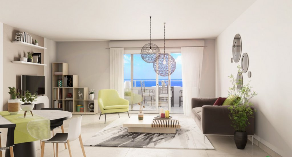 New apartments with sea view in Fabron in Nice