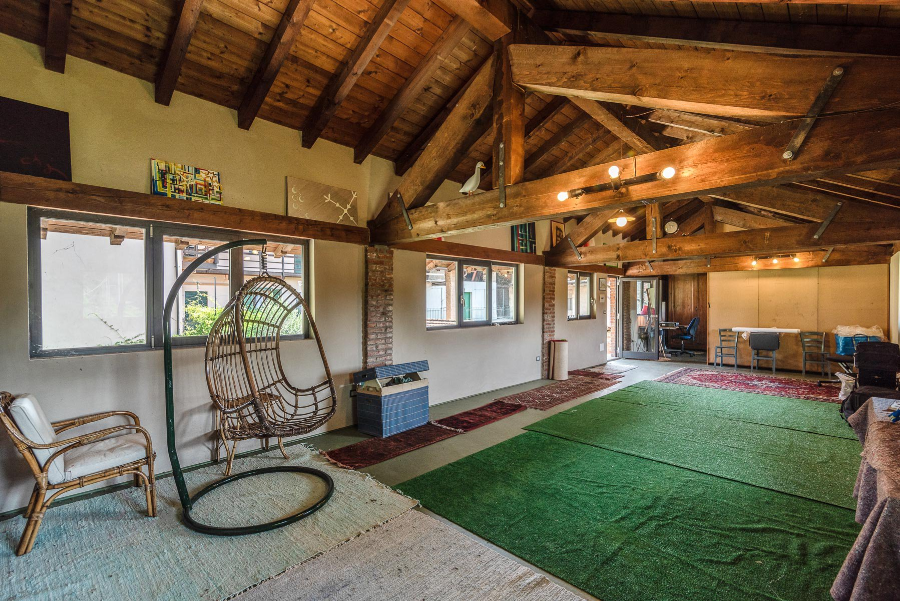 Trait house of land for sale in Paruzzaro-  recreation room