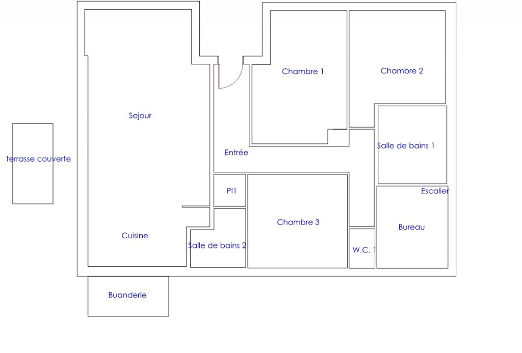 Villa reformada de 6 habitaciones y sótano grande.