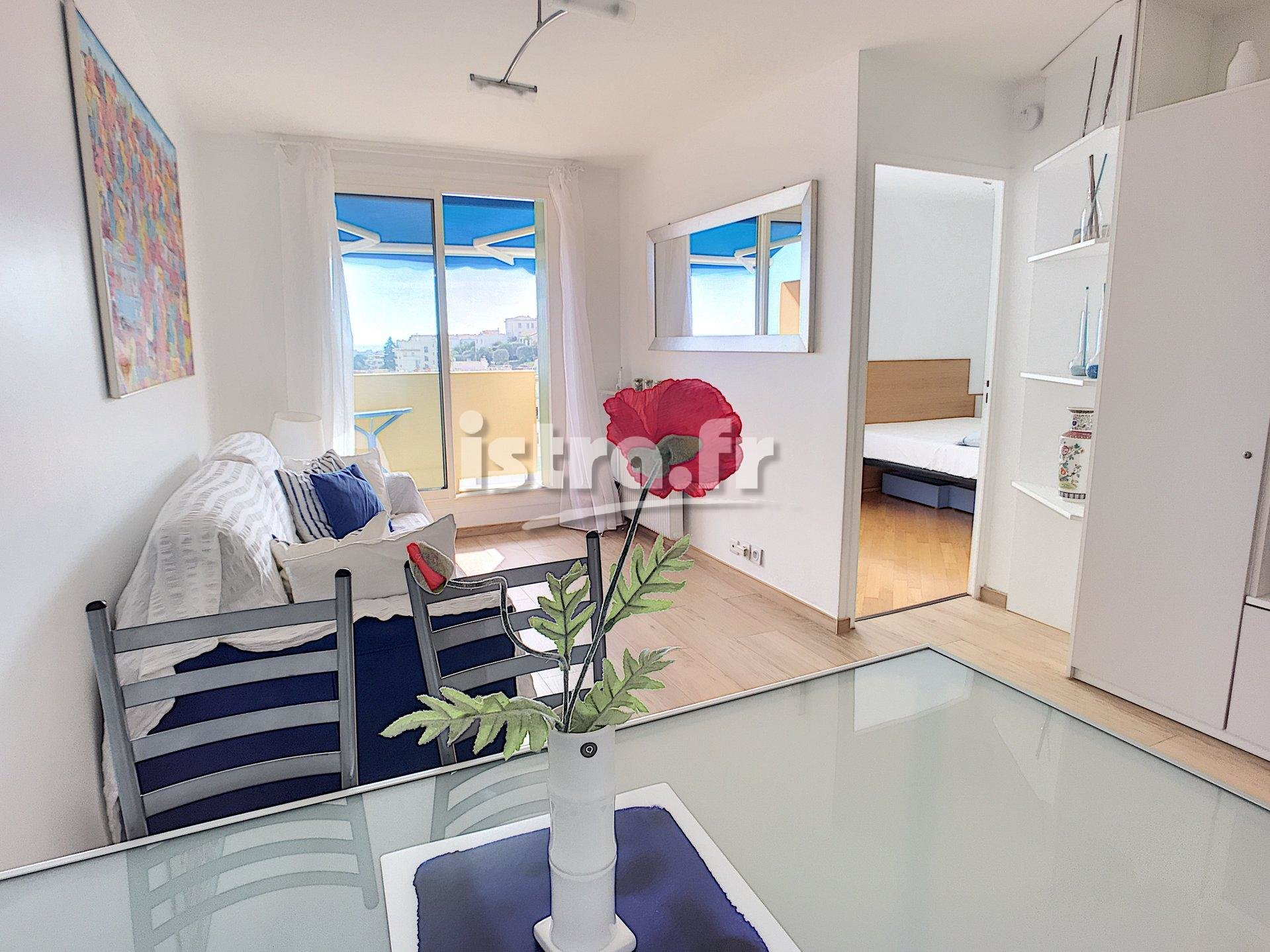 Nice Passy, top floor 1 bedroom apartment