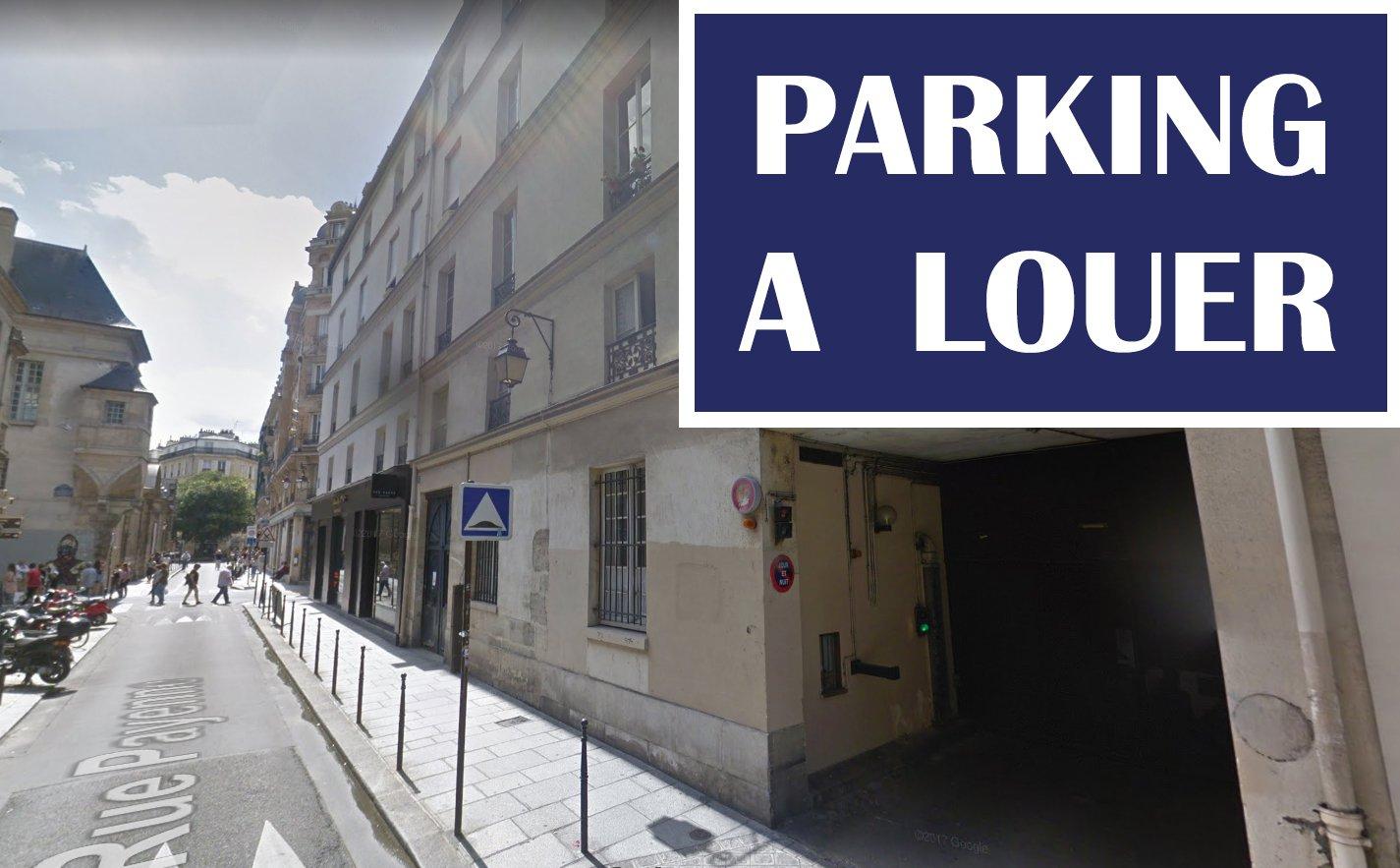PARIS III EME - RUE PAYENNE - PARKING