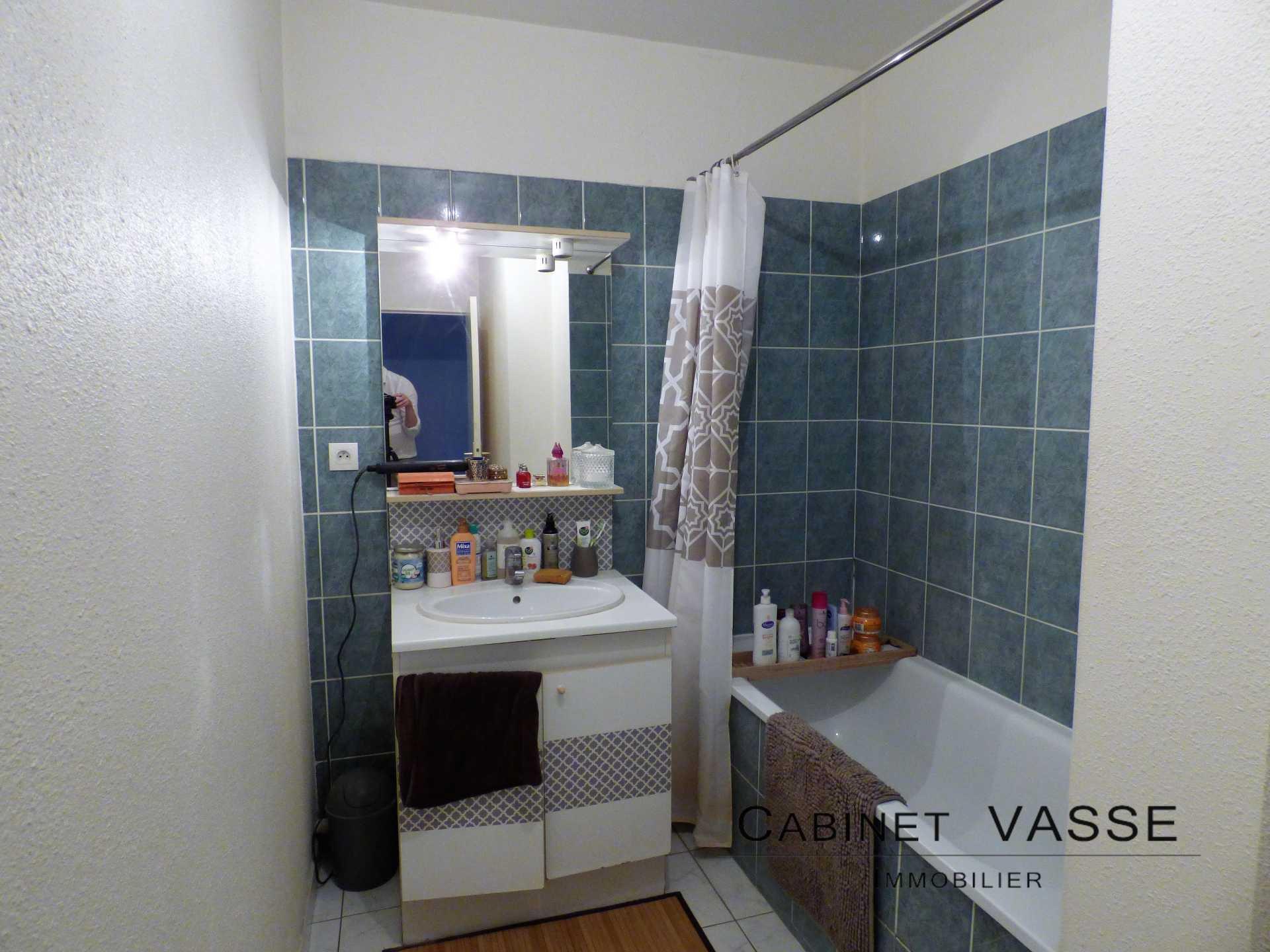 salle de bains, baignoire, faïence, machine à laver, vasse, a louer