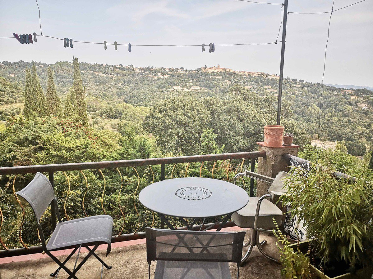 Village house with view and garden in Callian