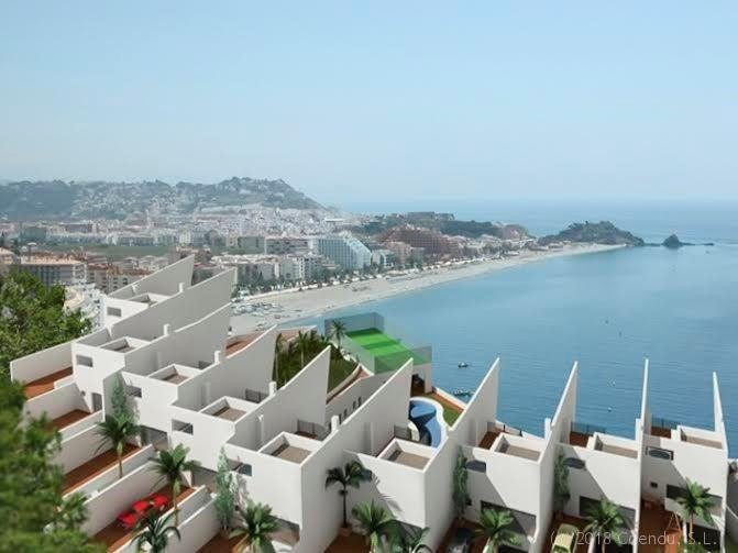 New construction of modern paired houses in the Mirador de Cotobro