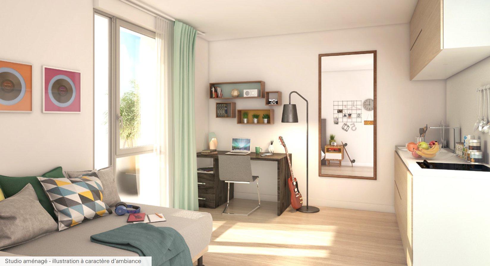 Studio Résidence étudiante Villeurbanne