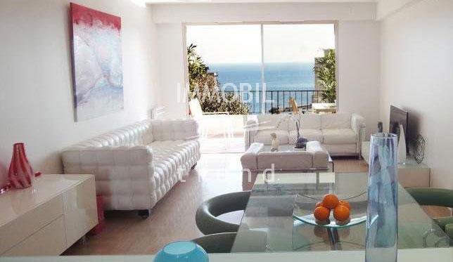 Beausoleil - 3 rooms with Panoramic Sea View on Beausoleil for Sale