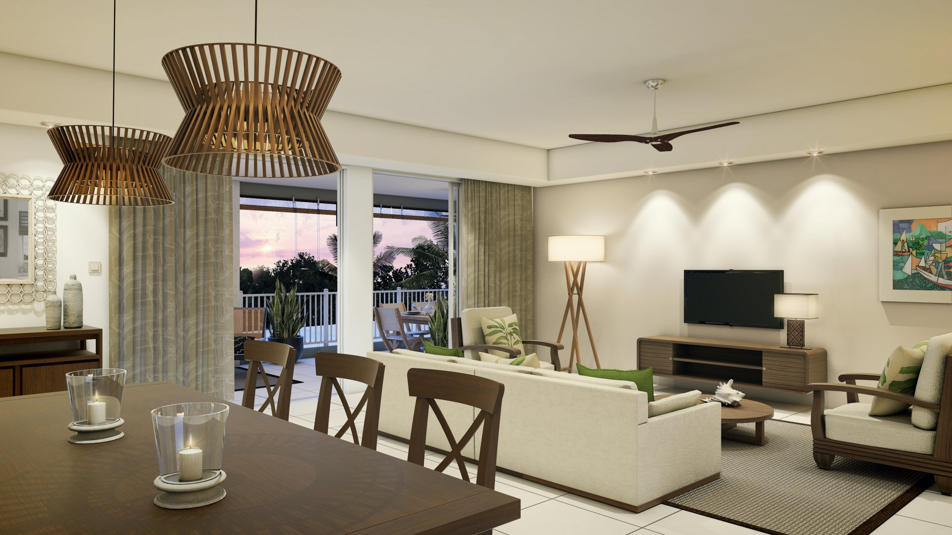 A choice of apartments and penthouses with luxury tropical furnitures