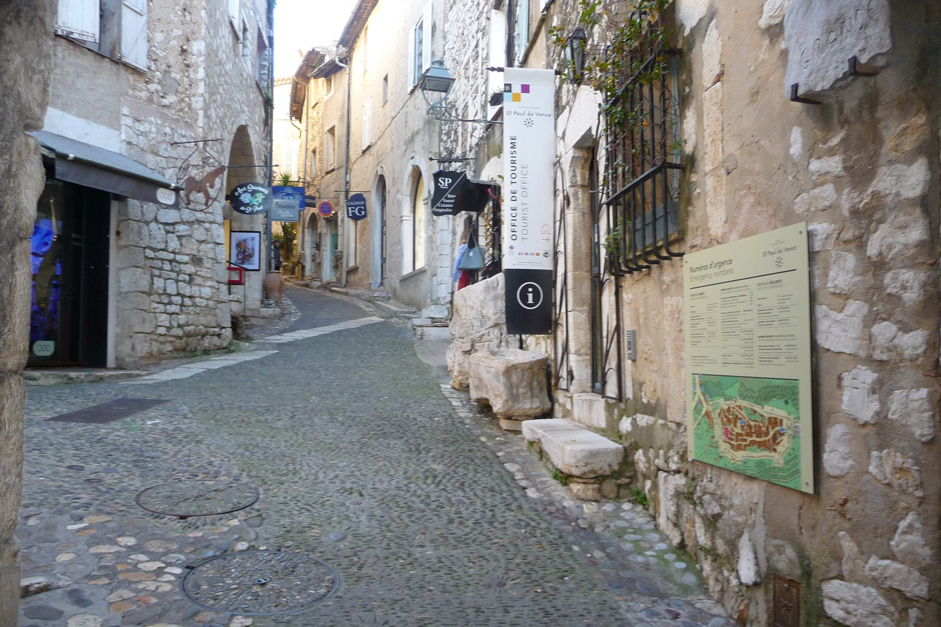 In the village of Saint-Paul de Vence